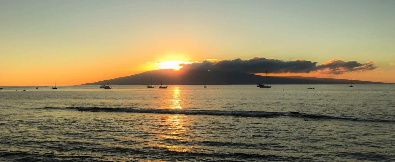 Coucher de soleil sur Lanai Hawaii