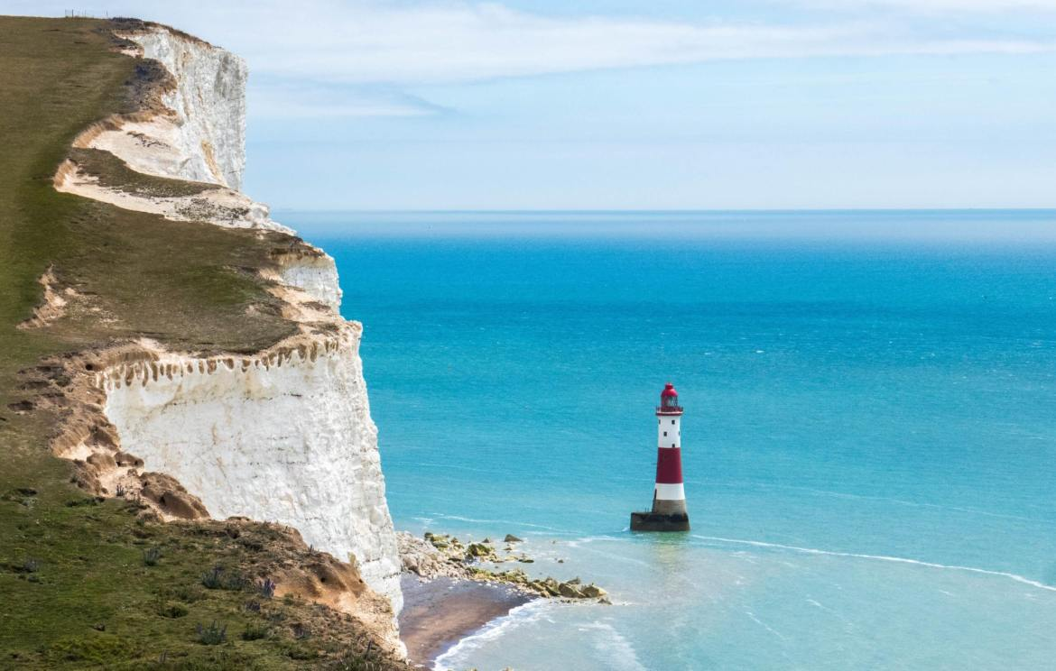 Beachy Head Lighthouse Seven Sisters Angleterre