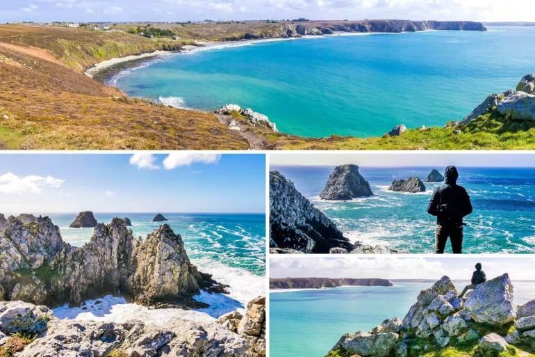 Pointe de Penhir et le Tas de Pois sur la Presqu'île de Crozon Finistère
