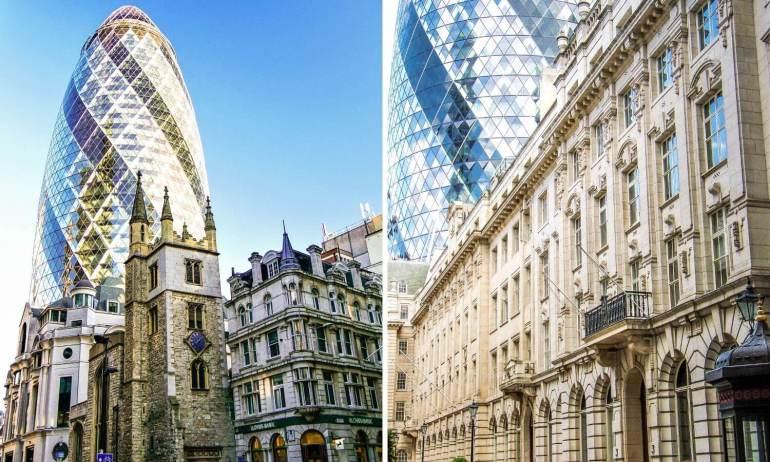 Voir le Gherkin dans la City à Londres