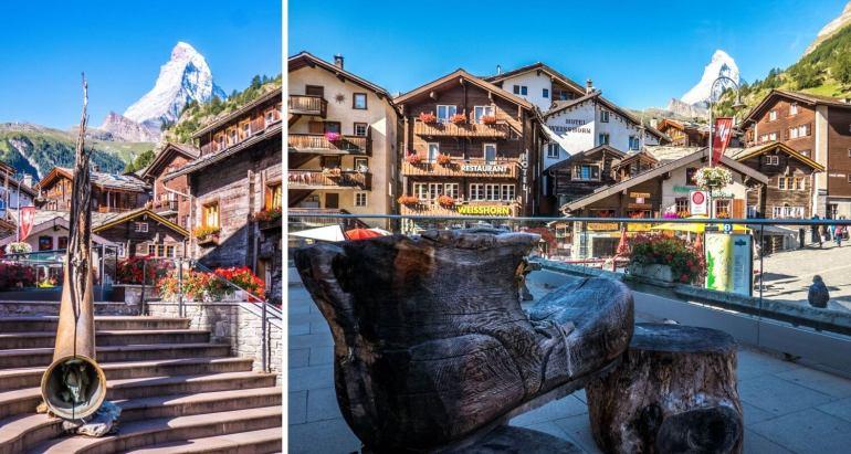 Place de l'église Zermatt