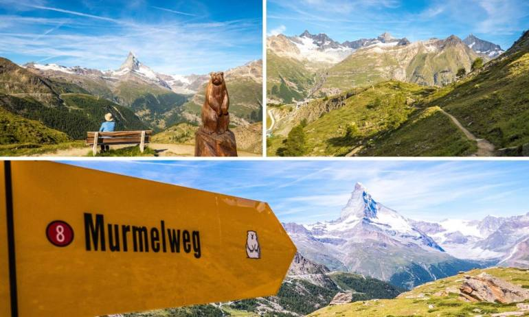 Randonnée sentier des marmottes Zermatt
