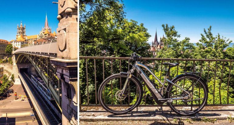 Visiter Lausanne en métro ou à vélo