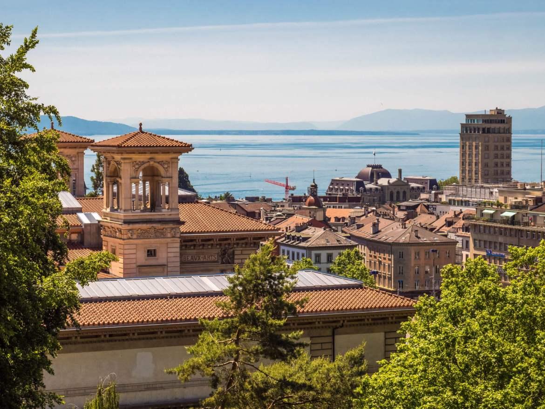 Vue sur Lausanne depuis le château
