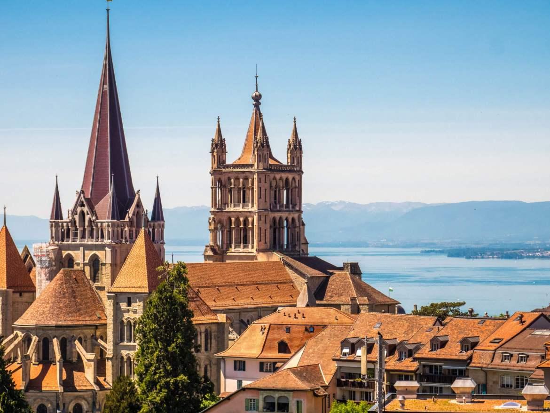 Vue sur cathédrale de Lausanne
