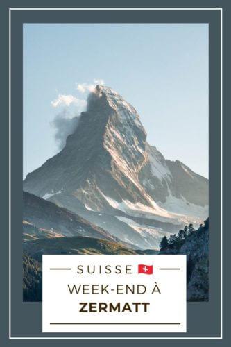 Week-end à Zermatt Pinterest