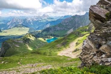 Vue sur le Lac Lioson depuis le Pic Chaussy