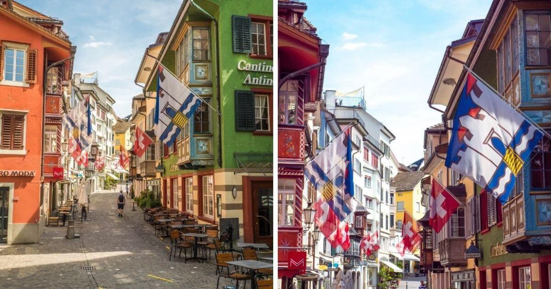 Balade dans l'Augustinergasse vieille ville Zurich