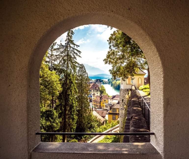 Visiter Thoune vue depuis Stadtkirche