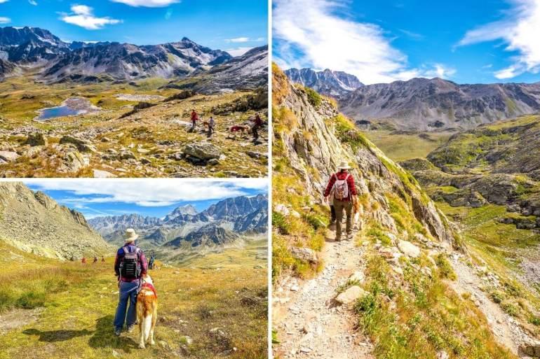 Sentiers de la randonnée au Grand-Saint-Bernard