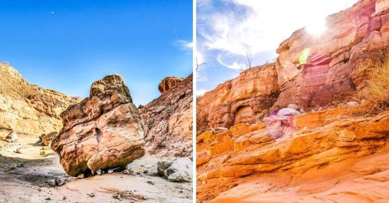 Palm Wash Slot Canyon chemin Calcite Mine Trailhead