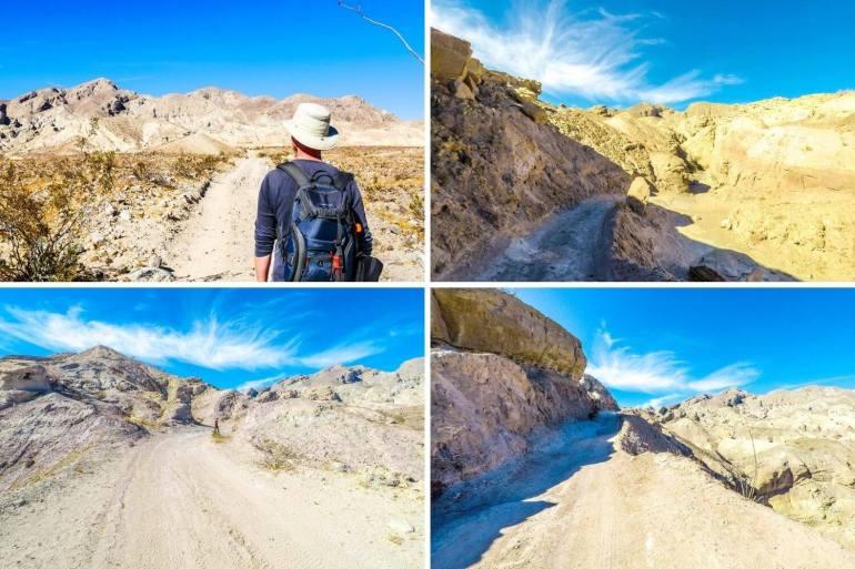 Sentier randonnée Palm Wash Slot Canyon Anza Borrego