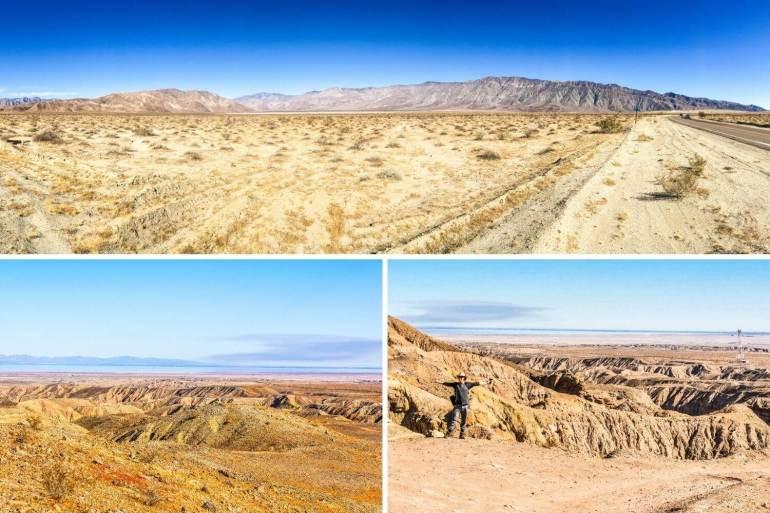 Vues du désert Anza Borrego Californie