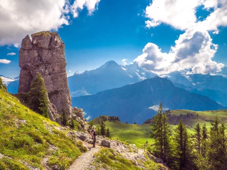 Vue sur Eiger depuis Schynige Platte Oberland bernois