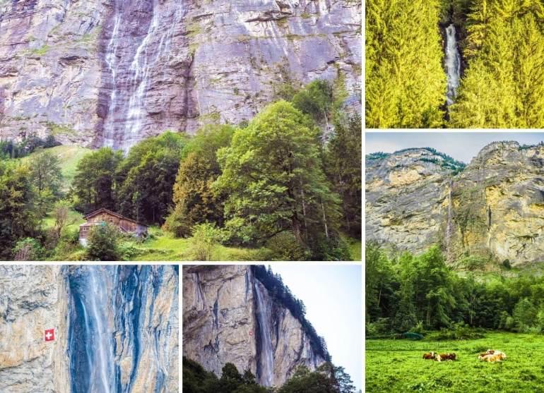 Cascades Lauterbrunnen randonnée