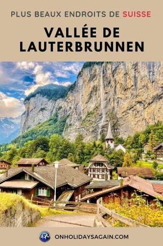 Vallée Lauterbrunnen plus beaux endroits Suisse