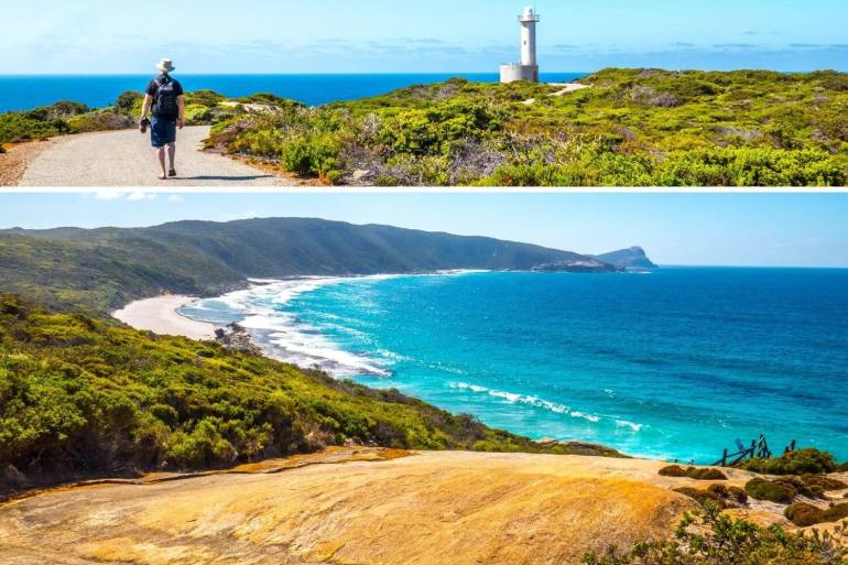 Cave Point Lighthouse Torndirrup Albany côte sud ouest Australie