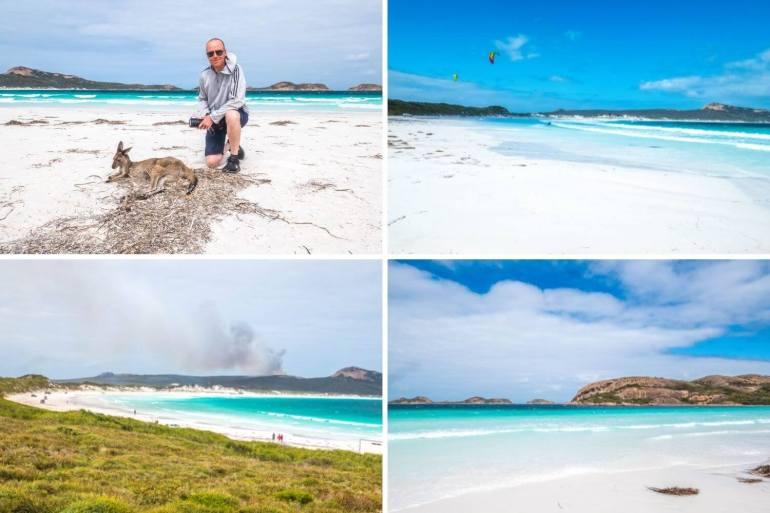 Lucky Bay plage Cape Le Grand côte sud ouest Australie