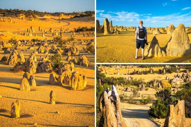 Pinnacles Desert côte ouest Australie