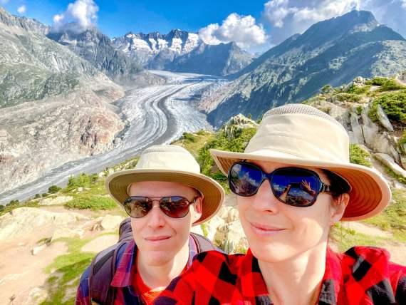 Glacier Aletsch week-end romantique Valais