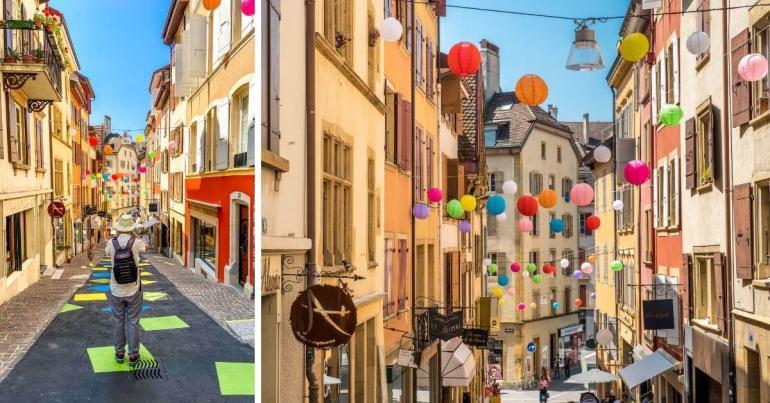 Rue des Chavannes vieille ville à visiter à Neuchâtel