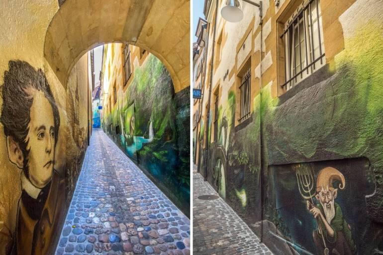 Street art Rue Neubourg à voir à Neuchâtel