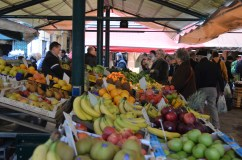 Me making important choices at the Rialto Market in Venice.