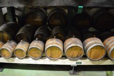 Balsamic vinegar barrels at Golles in Austria.