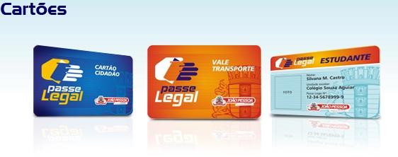Cartões do Passe Legal.