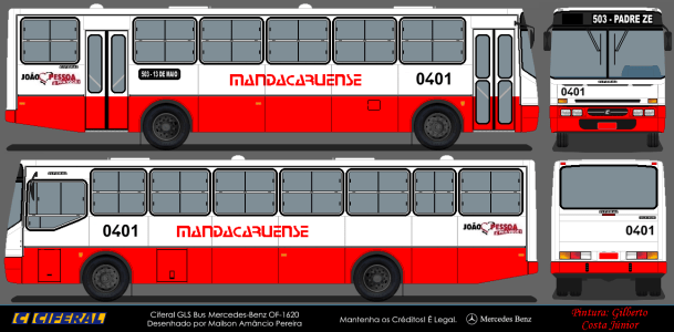 GLS Bus OF-1620 - Mandacaruense 0401