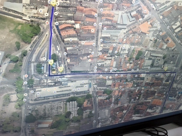 O sistema permite o monitoramento de todos os ônibus em tempo real