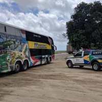 Operação de combate ao transporte clandestino da ANTT em conjunto com BPRV-PMPE apreende 08 veículos