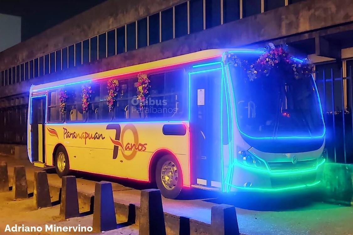 Paranapuan lança seu ônibus iluminado para o Natal