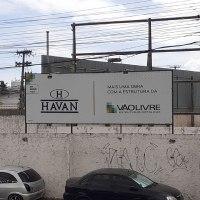 Obras da Havan de João Pessoa ao lado da Unitrans