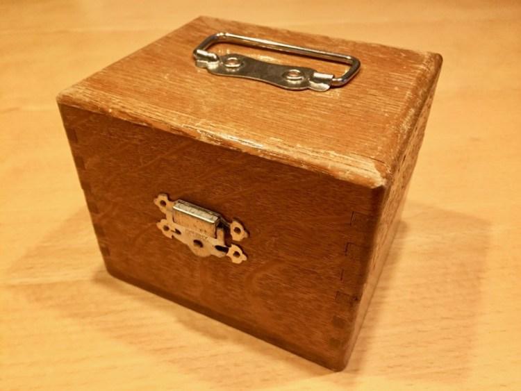 レトロ 木製 ハンコケース