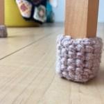 椅子 靴下 かぎ針 手編み
