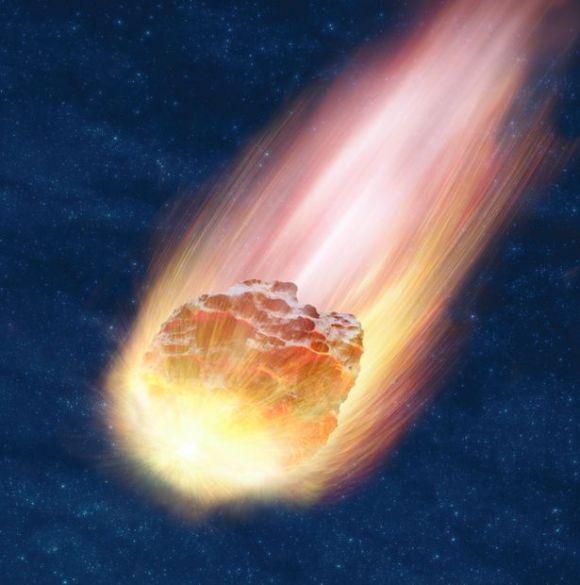 Meteor-in-night-sky