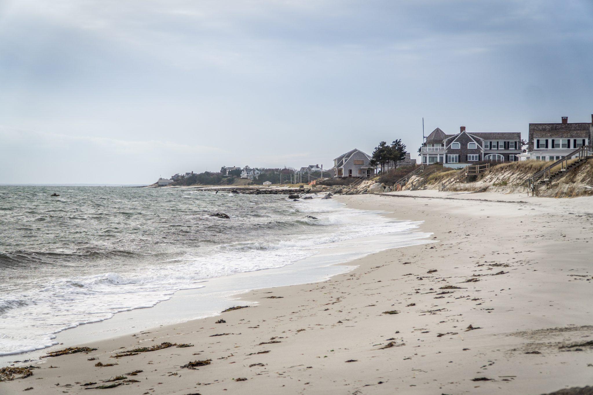 Des maisons sur la plage à Cape Cod
