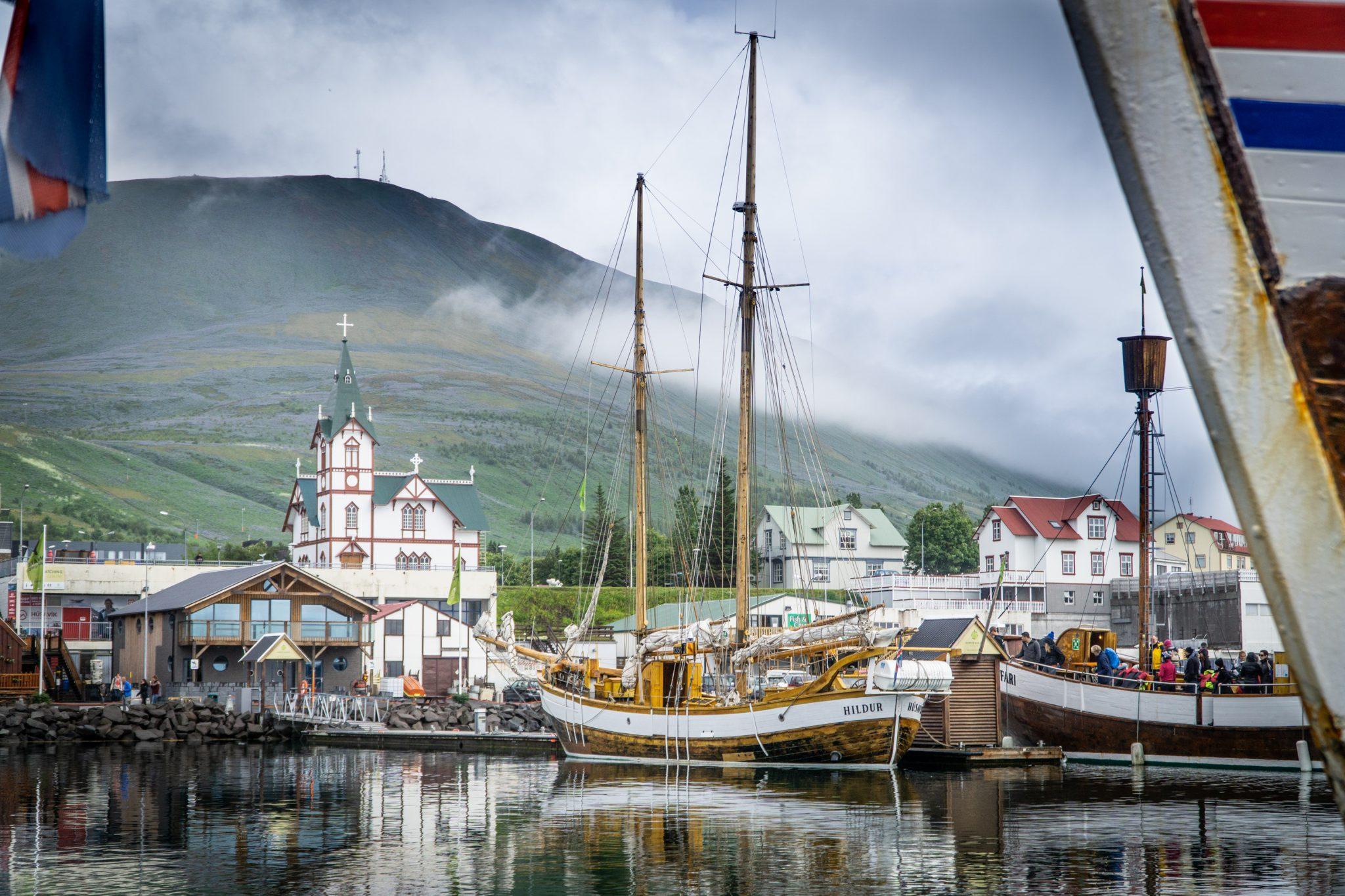 Le port d'Husavik en Islande