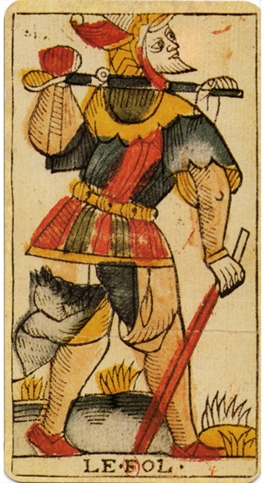 The fool of the Tarot and dreaming of being chased