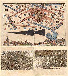 Il fenomeno celeste di Norimberga. (Hans Glaser, 1561)