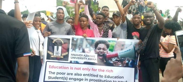 UNIZKI students protest