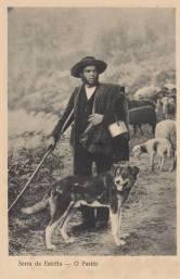 Serra da Estrela - O pastor© (anterior a 1933). Fonte: www.delcampe.net (MAP) Album: Serra da Estrela (Nuts III) https://www.facebook.com/media/set/?set=a.189613607807903.27014.126752774093987
