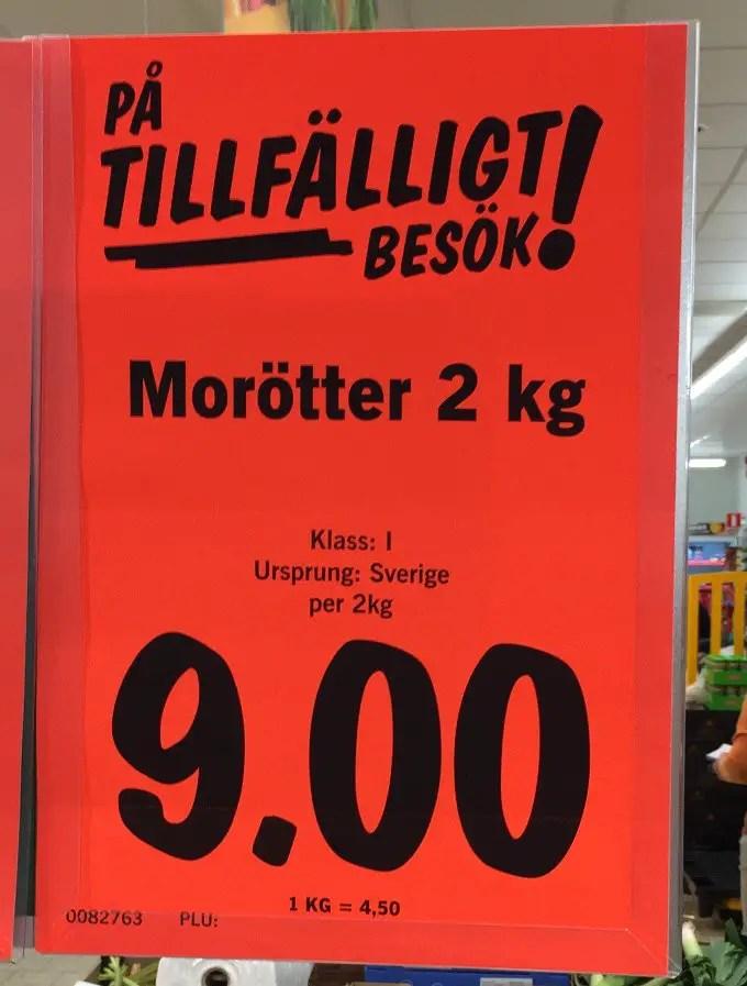 Morötter har blivit en vara vi köper mycket när det är billigt för priset skiljer extremt.