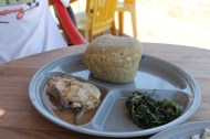 Uglai, fresh fish and mchicha for 40p!
