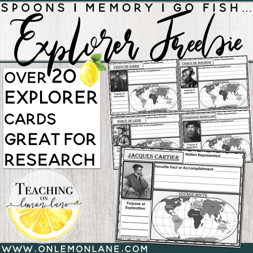 small resolution of Early Explorer / Exploration Research Cards (Interactive Notebook)  **FREEBIE   On Lemon Lane