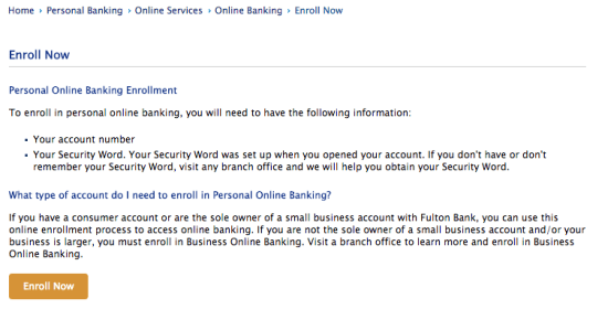 Fulton Online Personal Banking