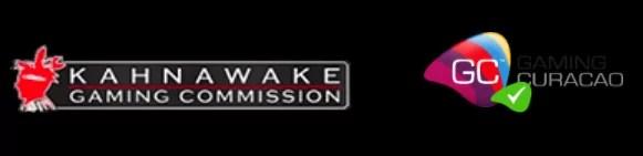 カナワケ(Kahnawake Gaming Commission)とキュラソー(Gaming Curacao)の二国のライセンス