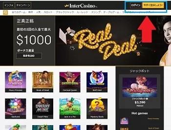 インターカジノ登録手順3
