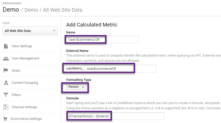Ultimate Guide to Calculated Metrics in Google Analytics | Online ...
